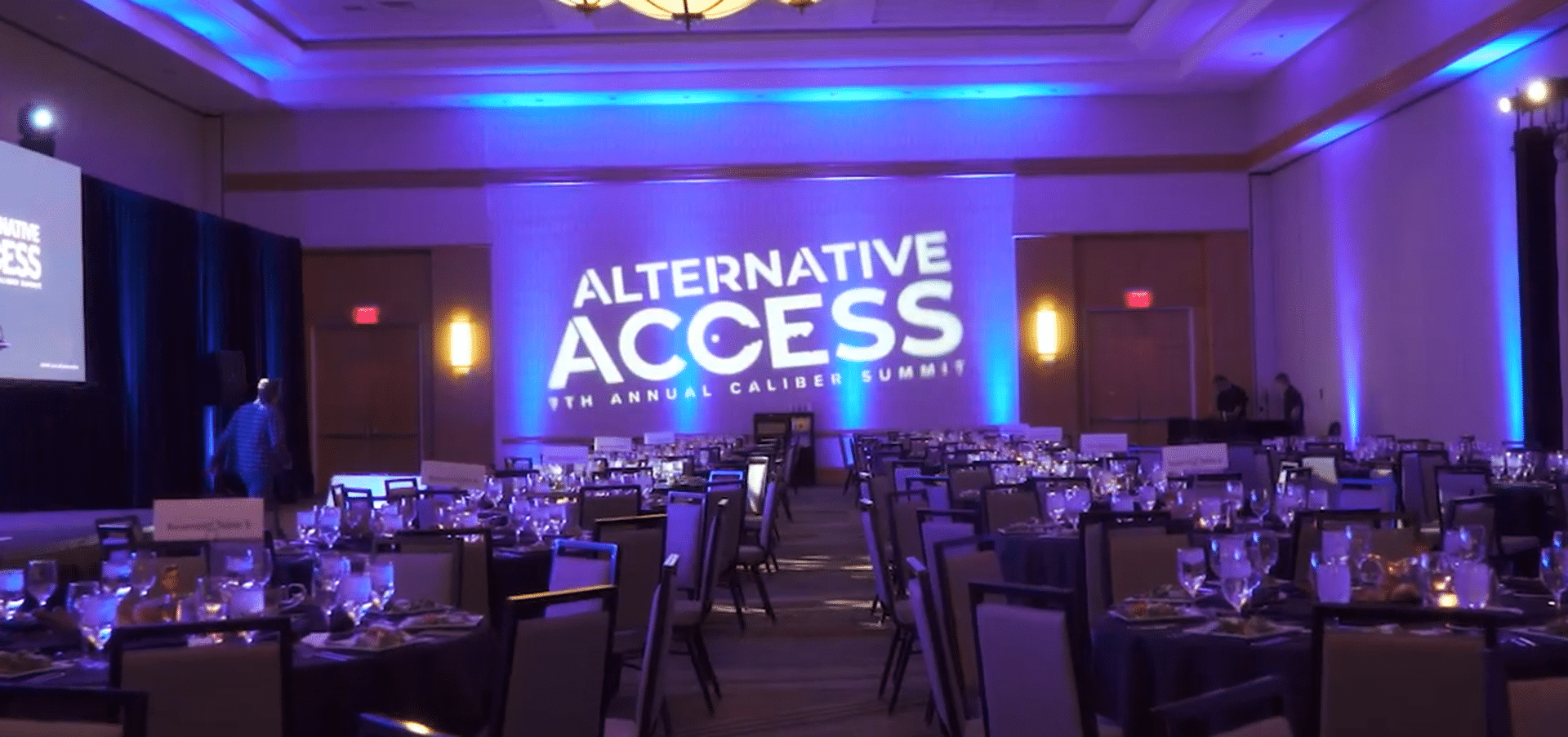 Photo of the ballroom of Caliber's Alternative Access Summit 2017