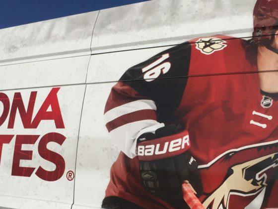 Photo of an Arizona Coyotes billboard