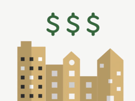 Building with Dollar Signs above them ( Decorative )