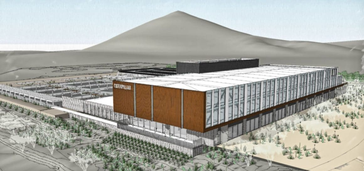 A rendering of the Caterpillar headquarters in Tucson