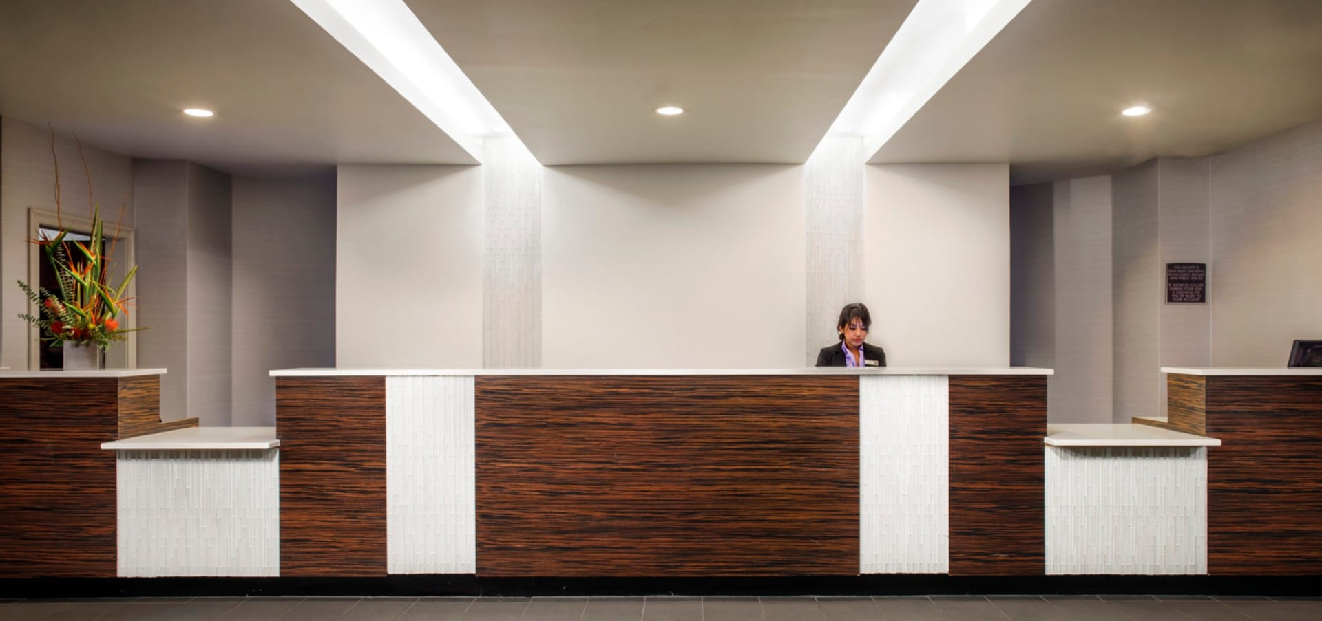Office Front Desk Stock Photo