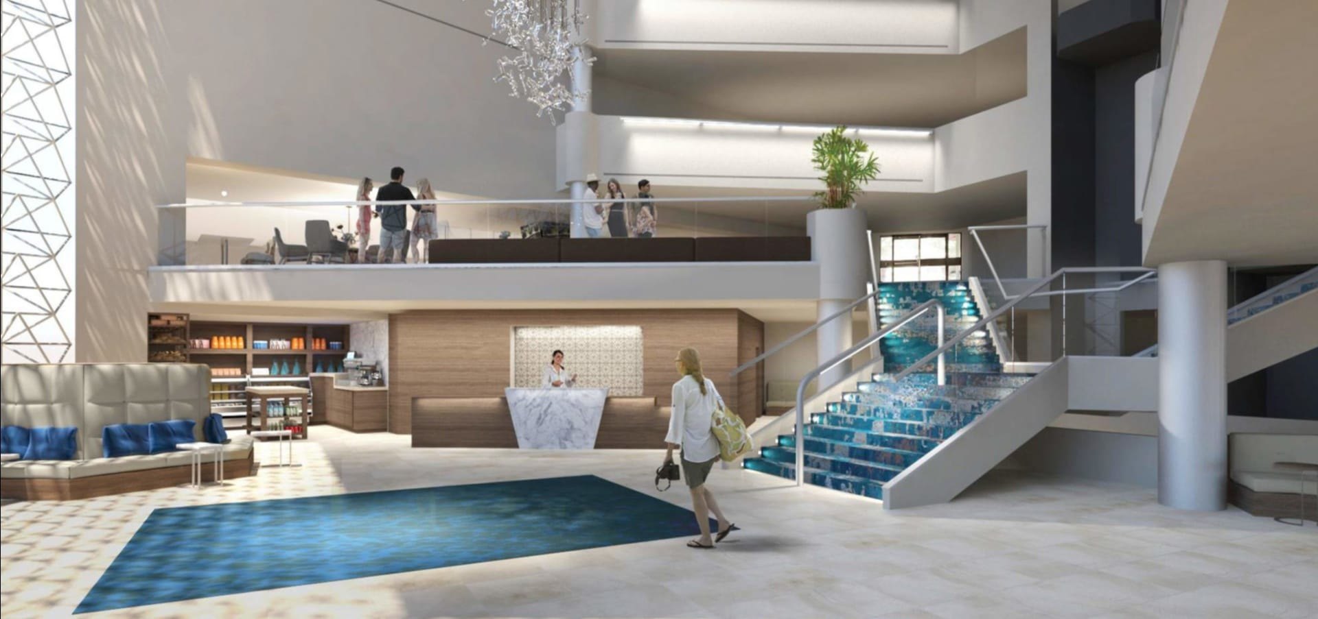 Rendering of Tucson hotel lobby