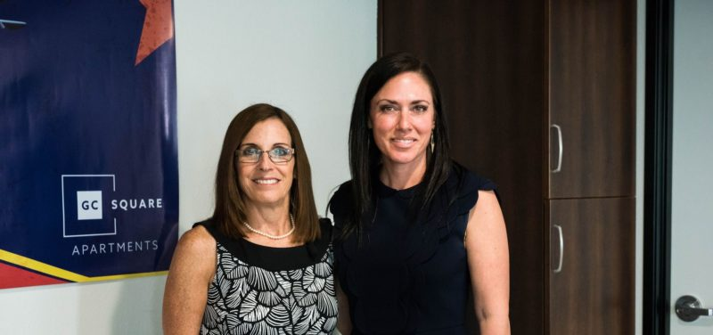 Jennifer Schrader with Martha McSally