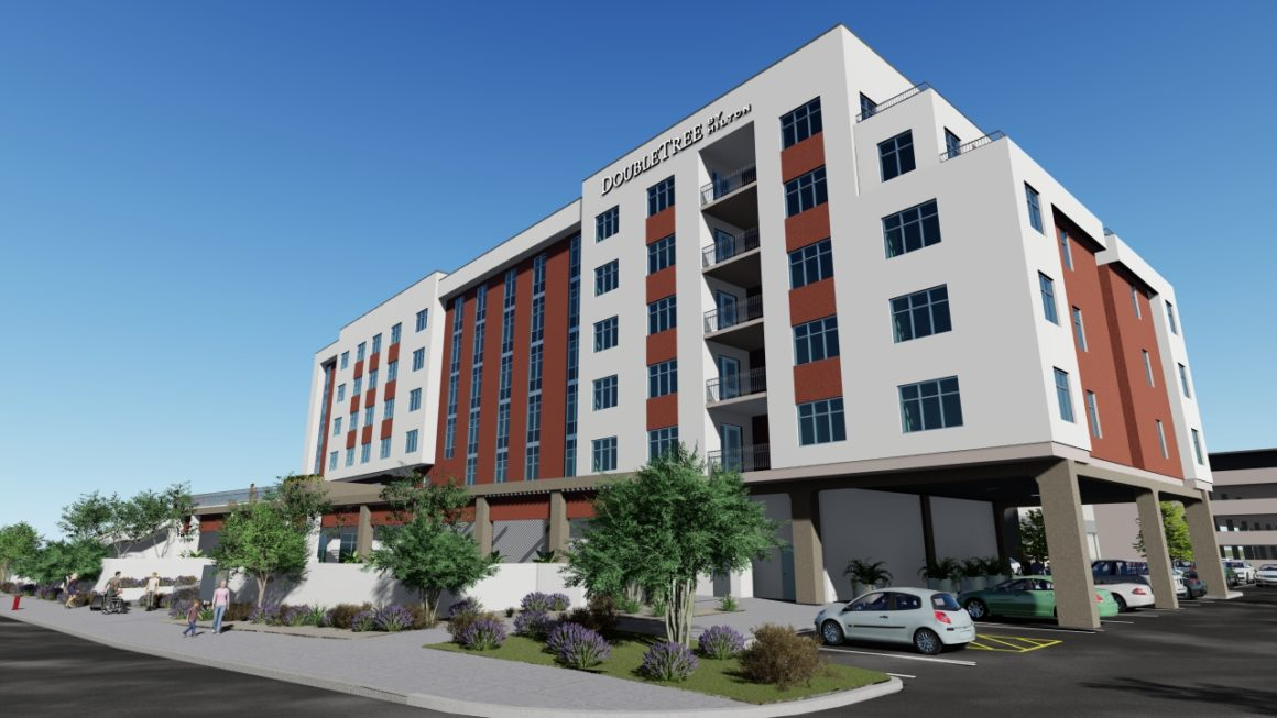 Rendering of Doubletree Hilton Tucson Convention Center, a Caliber opportunity zone project