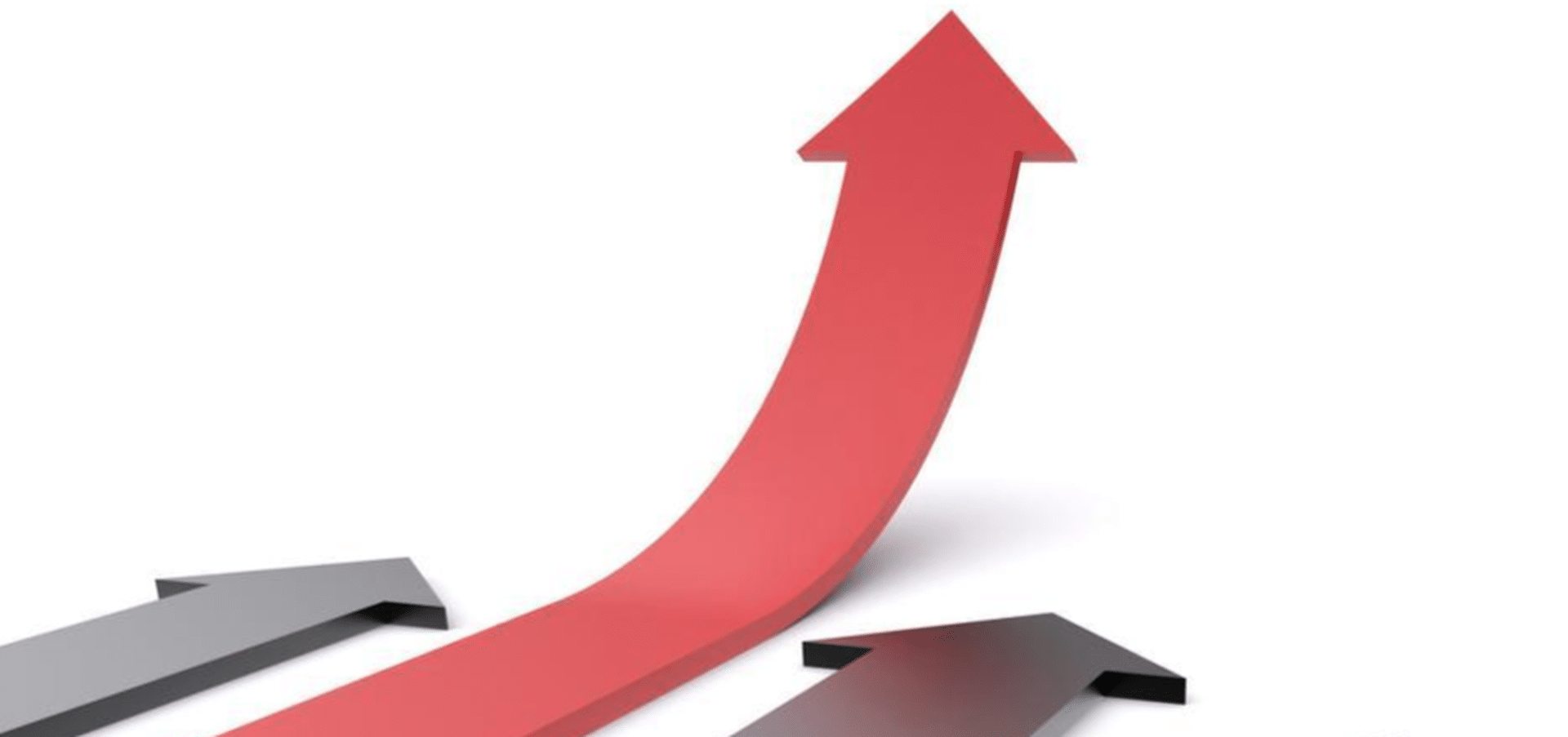 Stock image of an arrow pointing upward, signifying growth