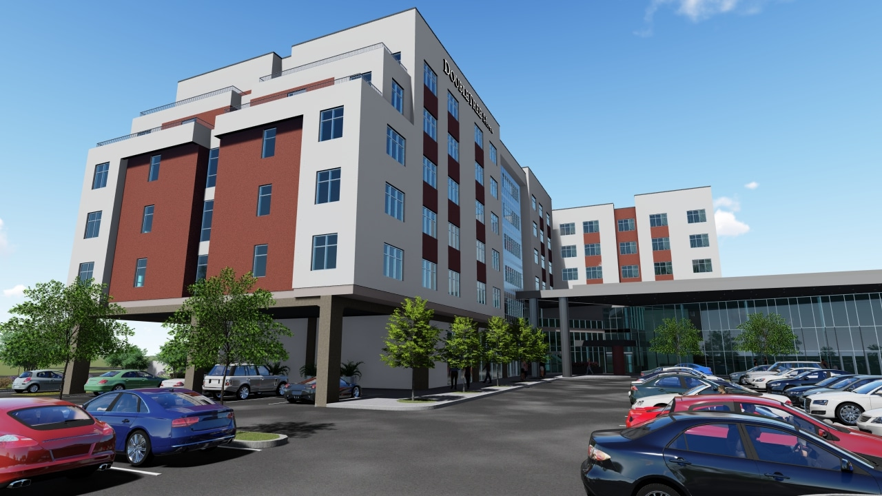 A rendering of Caliber's Tucson Convention Center Hotel
