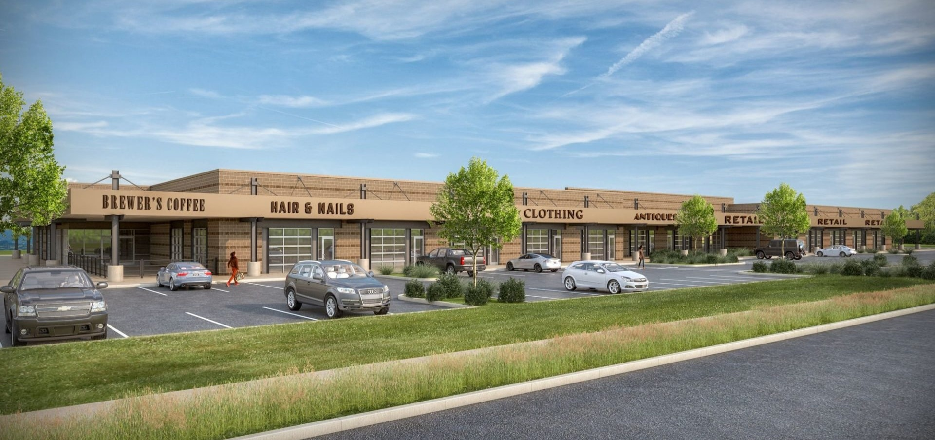 Johnstown Retail Perspective rendering