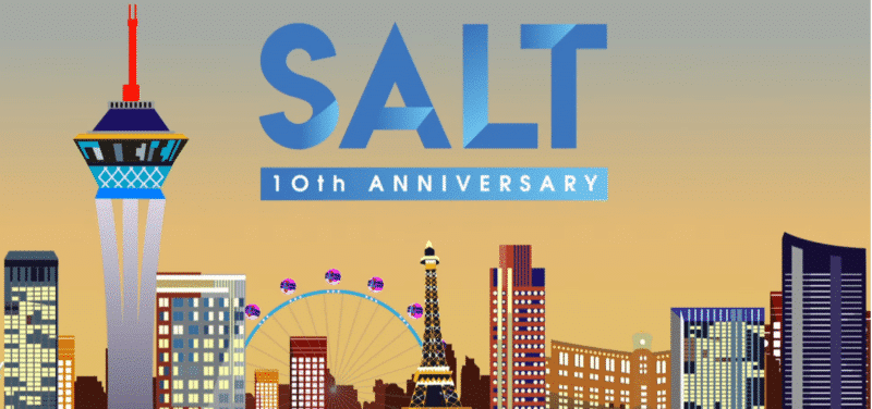 Salt 10th Anniversary logo
