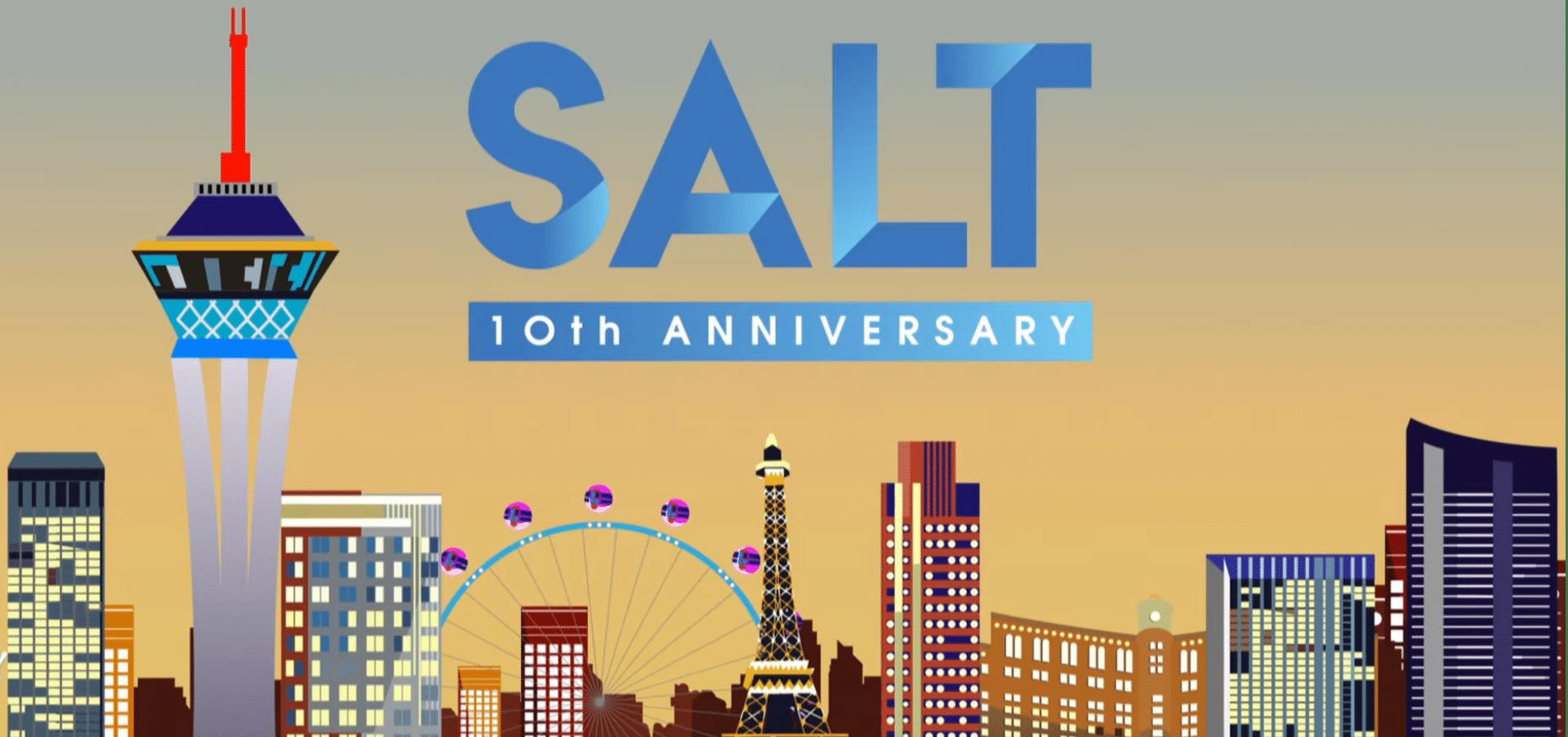 Salt 10th Anniversary logo