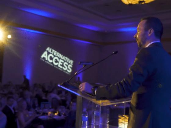 Chris Loeffler speaking at Caliber's alternative access summit