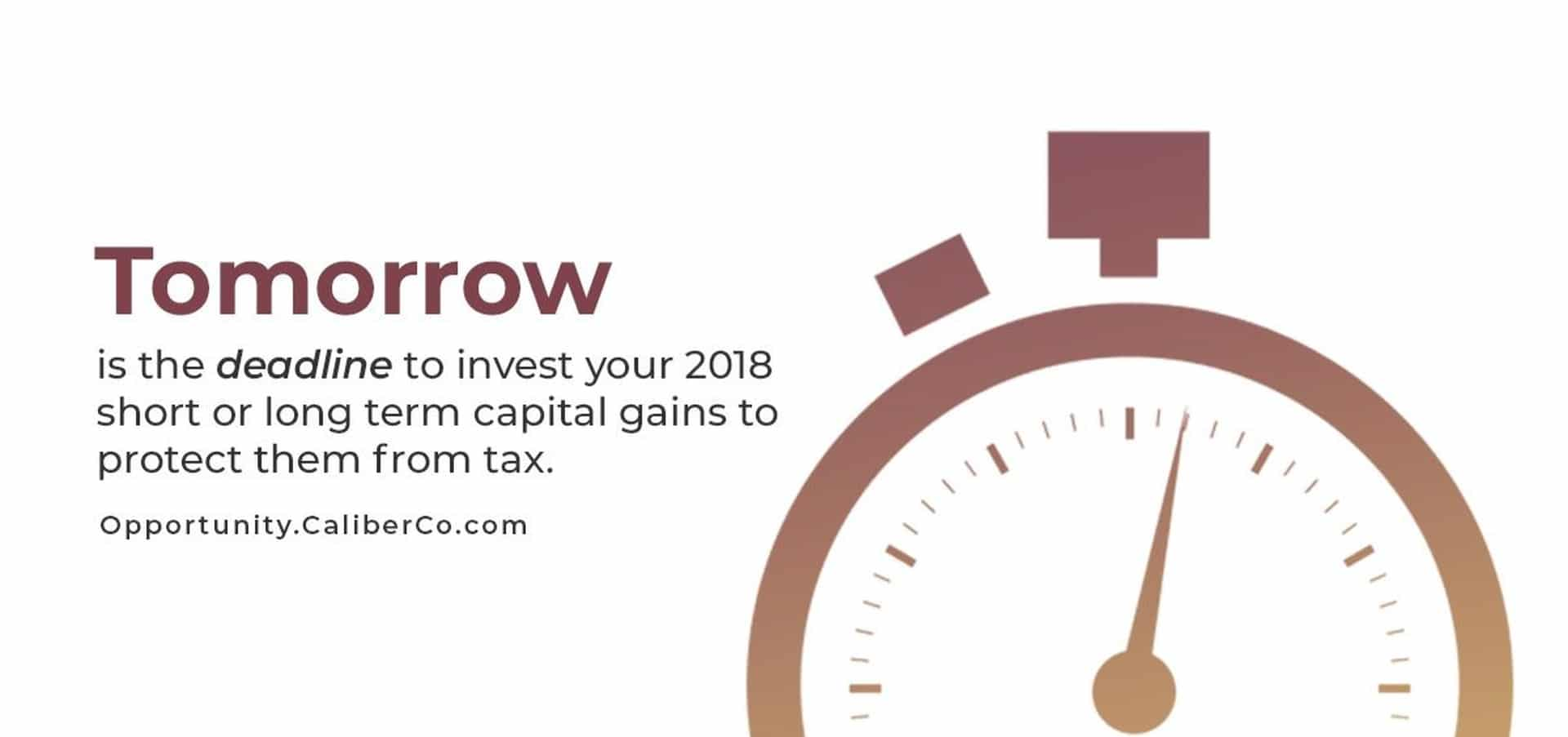 Last day to save on capital gains taxes June 2019