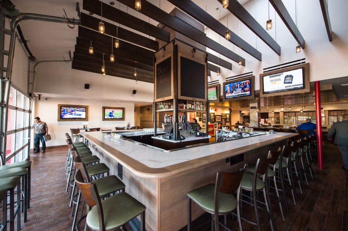 The bar at Burger Theory in Phoenix