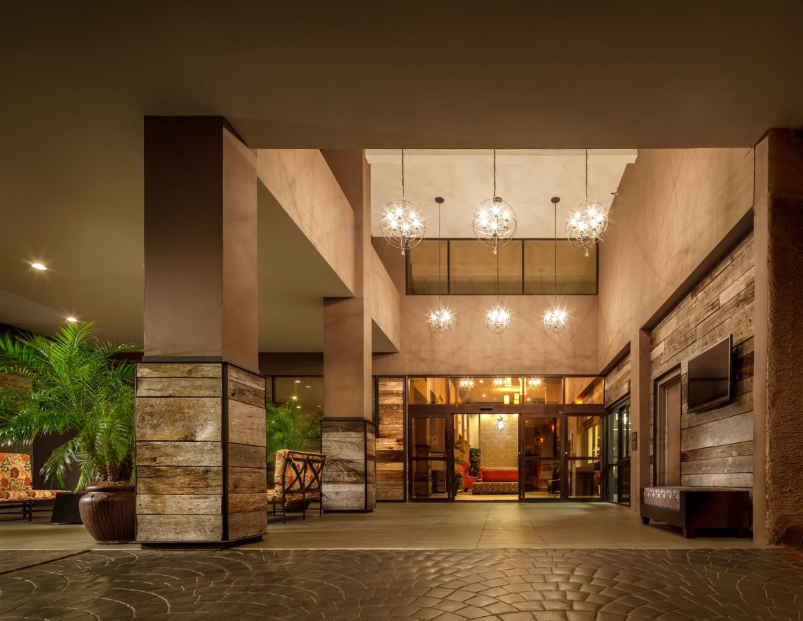 The Phoenix Crowne Plaza entry area