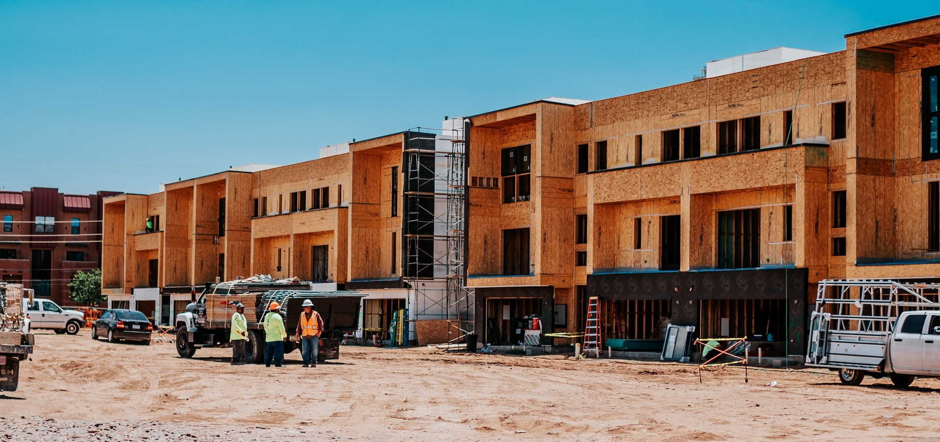 The Roosevelt Townhomes during construction phase