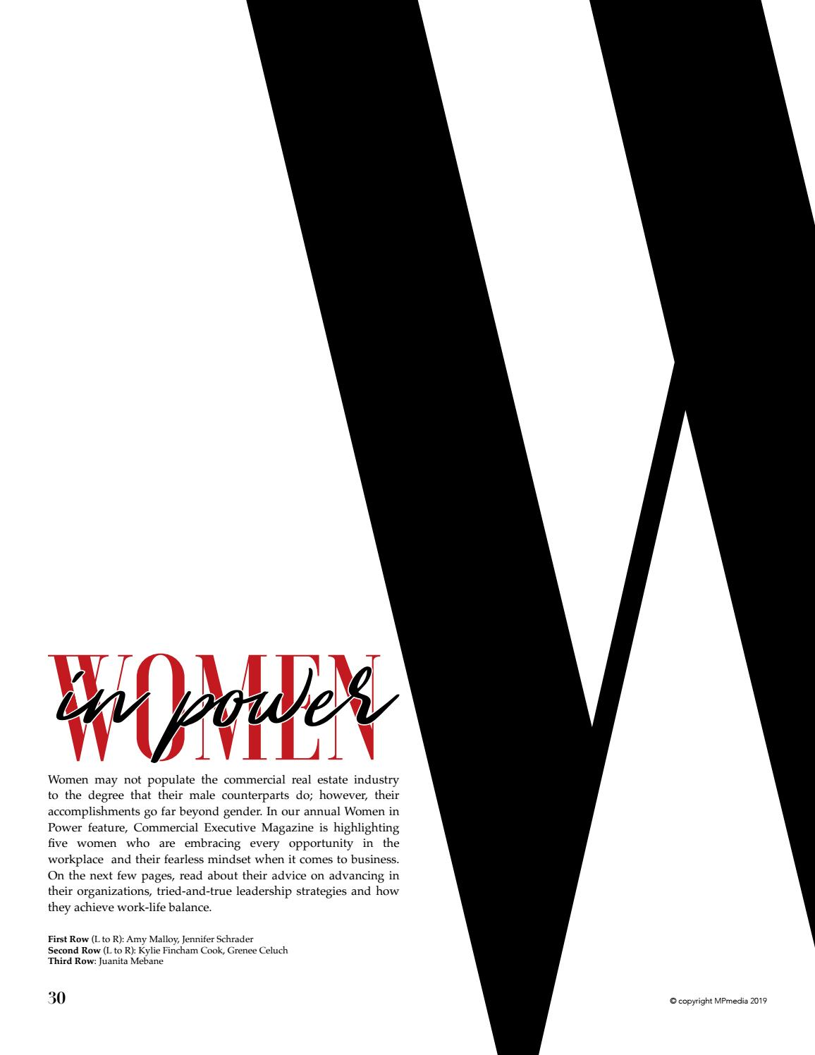 Executive Magazine's 2019 Women in Power feature