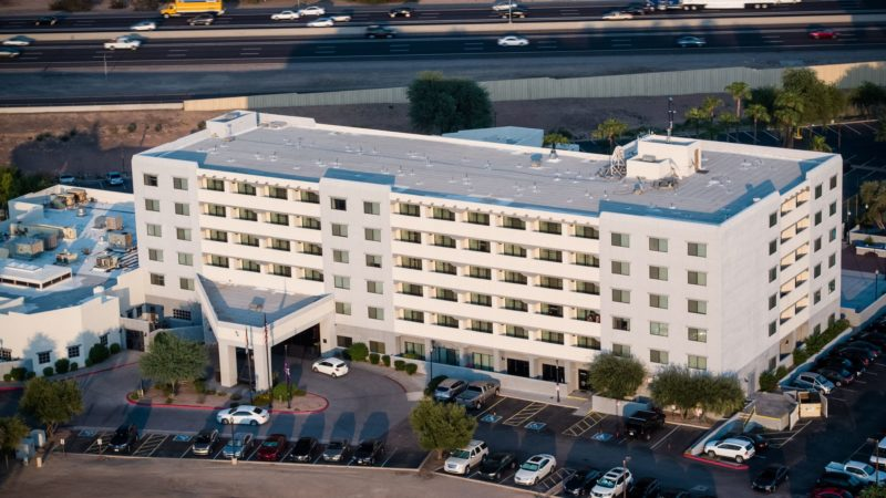 Drone photo of Four Points Sheraton