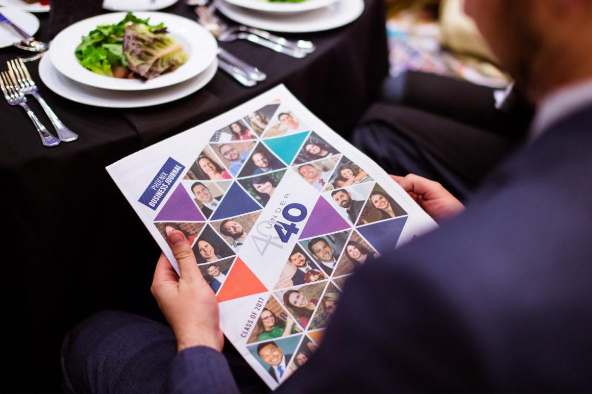 Chris Loeffler looks at the evening's program for Phoenix Business Journal's 40 Under 40 gala