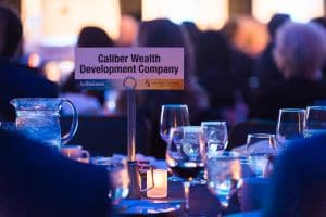 Photo of Caliber's reserved table at the