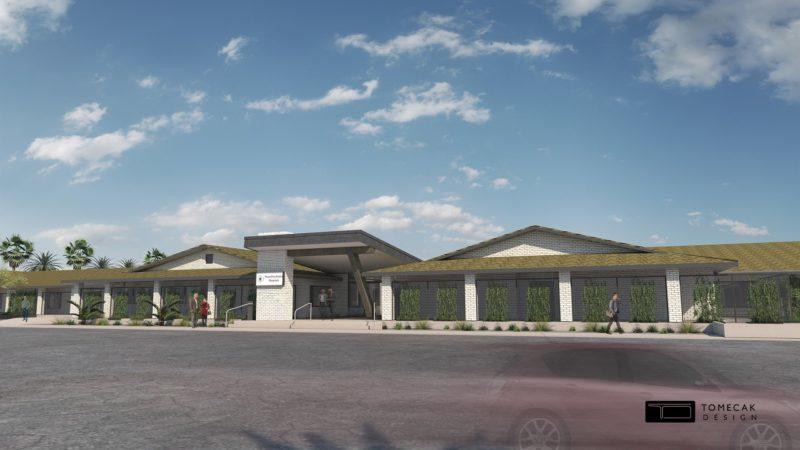Rendering of Phoenix Medical Psychiatric Hospital, courtesy of Tomecak Design