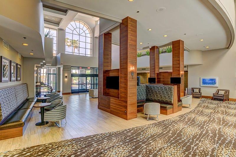 Hilton Phoenix Airport lobby