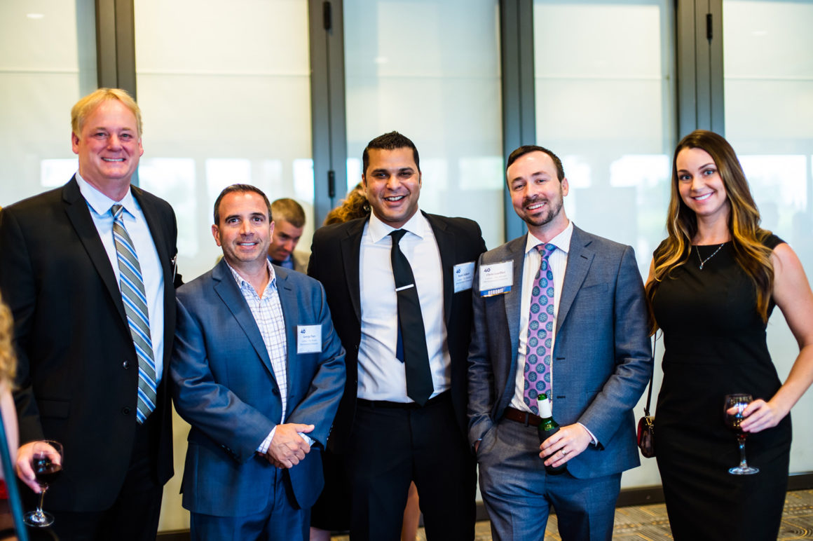 The Caliber team poses at the Phoenix Business Journal's 40 Under 40 gala