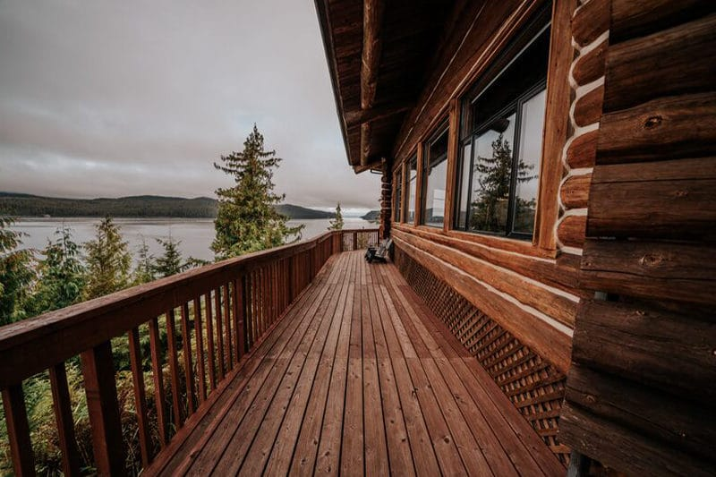 deck at Salmon Falls Resort Alaska