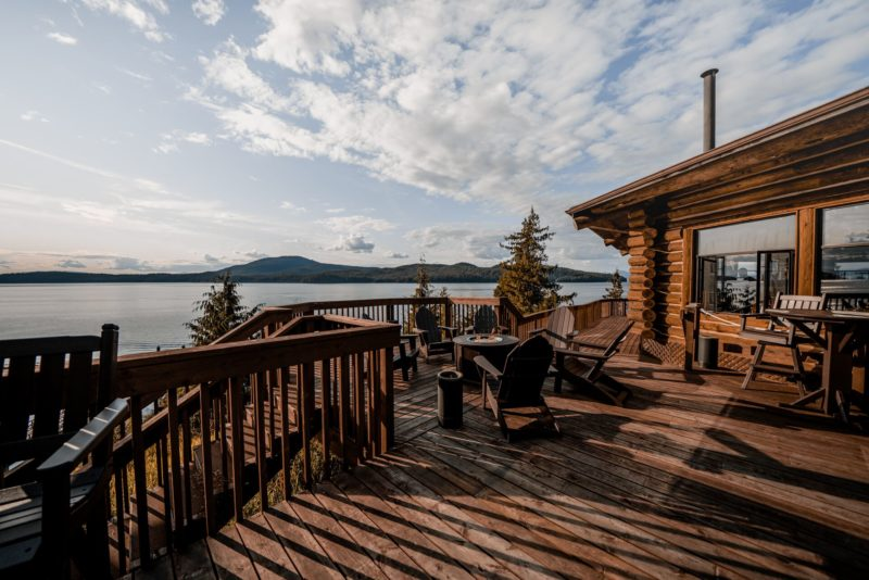 Salmon Falls Resort Alaska deck