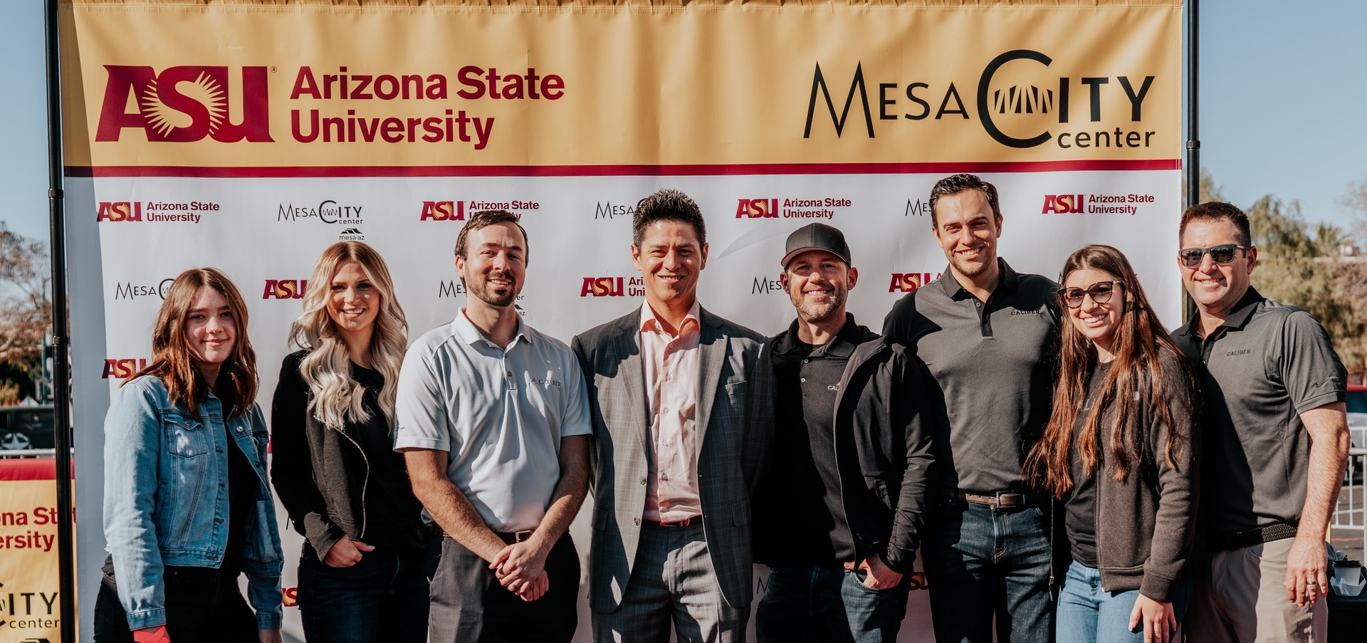 The Caliber team at the groundbreaking ceremony for the new ASU Mesa campus
