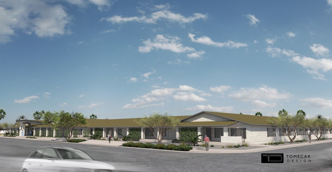 A RENDERING OF THE NEW BEHAVIORAL HEALTH FACILITY COMING TO PHOENIX, COURTESY OF TOMECAK DESIGN.
