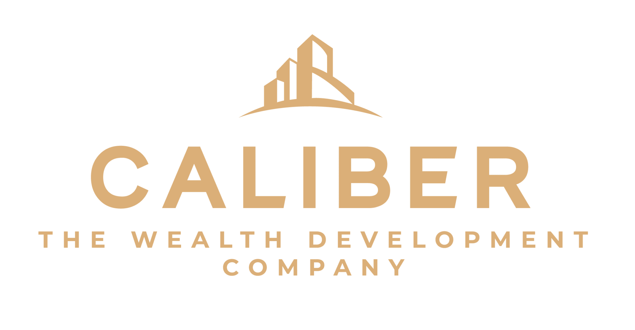 Caliber ( The Wealth Development Company ) ALTERNATE LOGO - COLOR - ALL GOLD - RGB