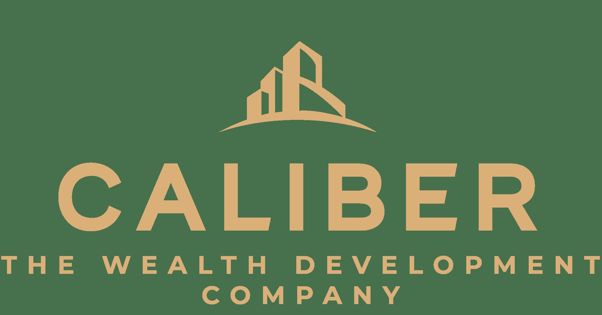Caliber ( The Wealth Development Company ) ALTERNATE LOGO - COLOR - ALL GOLD - RGB_crop