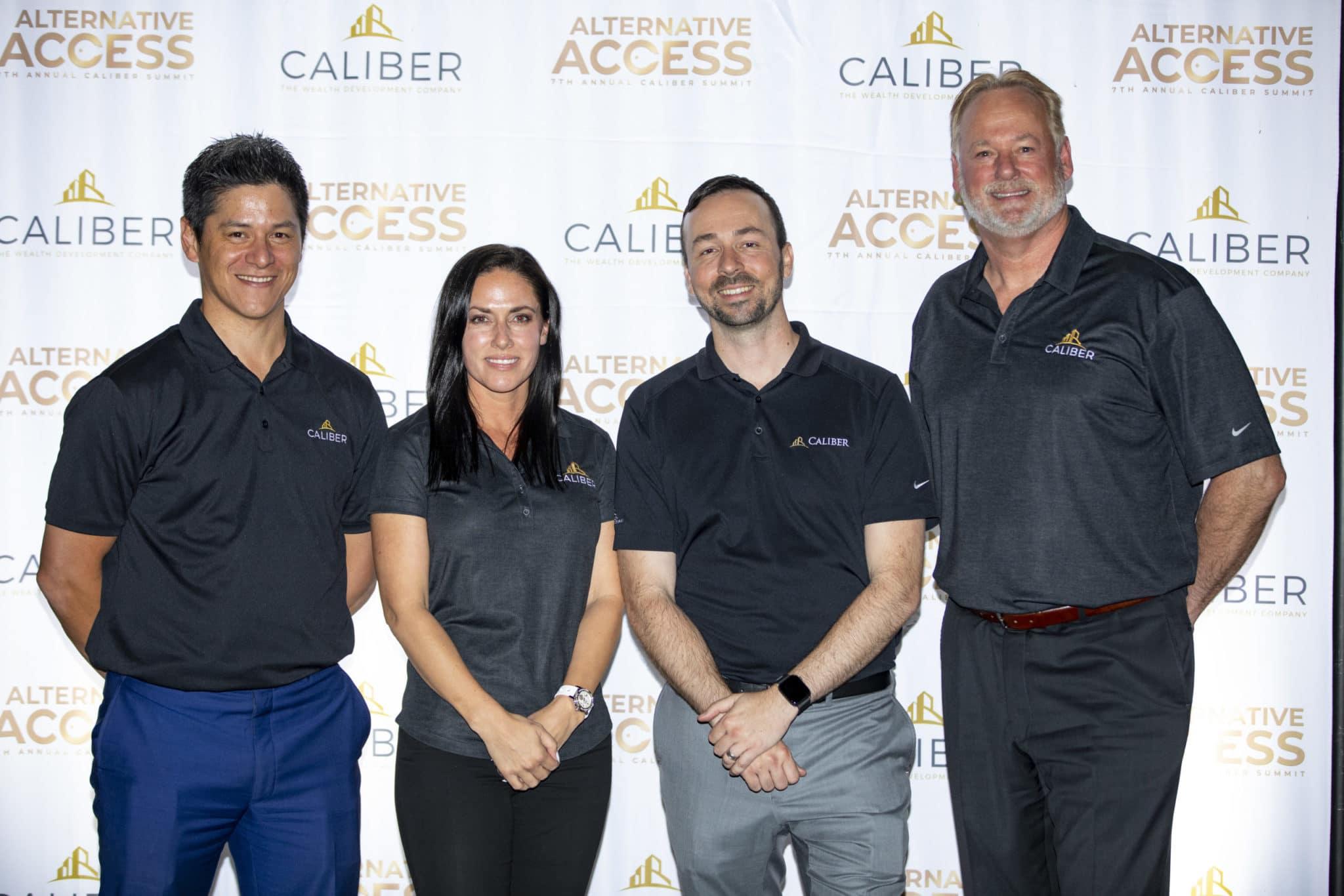 Caliber executives (left to right): Jade Leung, Jennifer Schrader, Chris Loeffler, Roy Bade