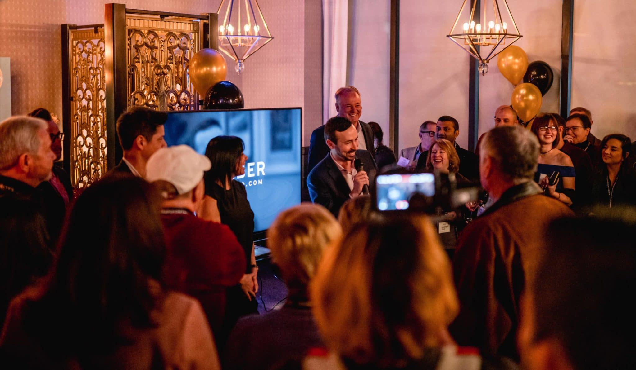 Caliber co-founders present new offering during February launch party