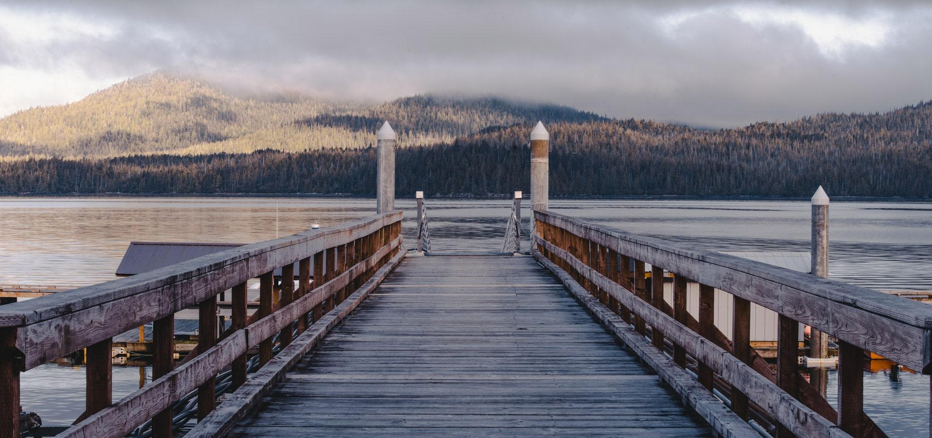 Salmon Falls Resort Alaska Dock