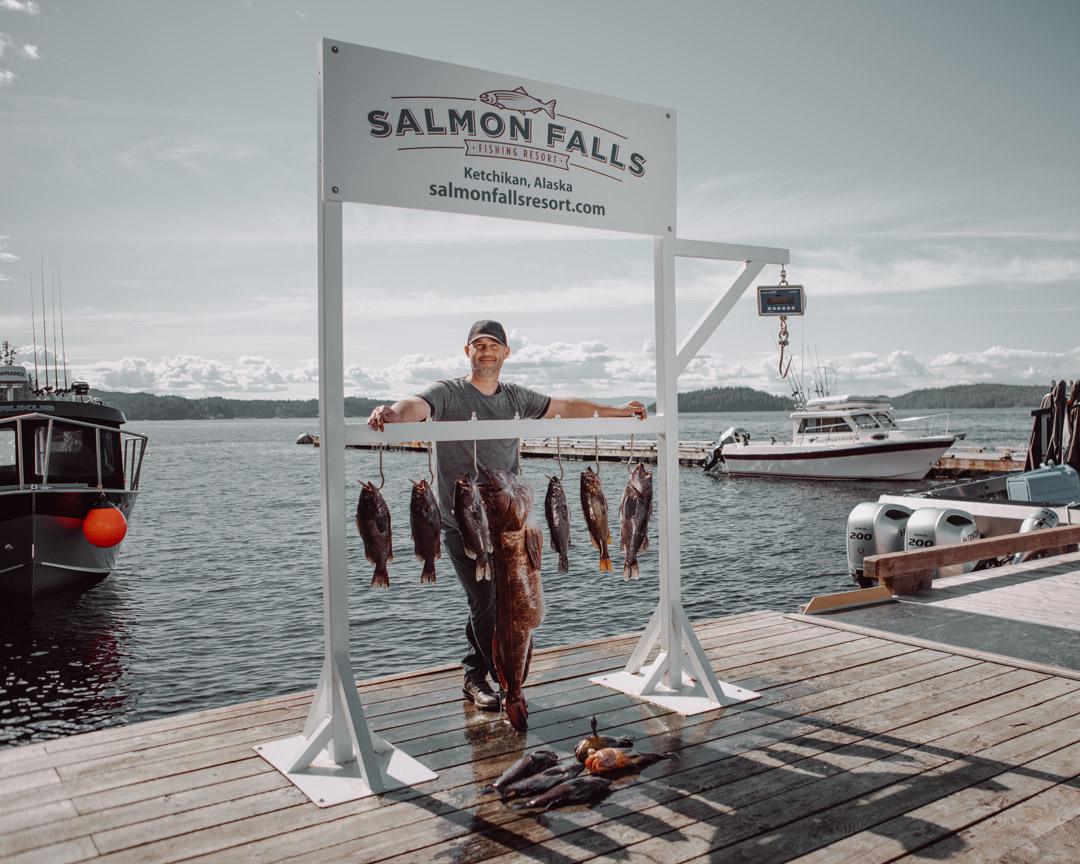 Salmon Falls Resort Alaska Fishing Dock