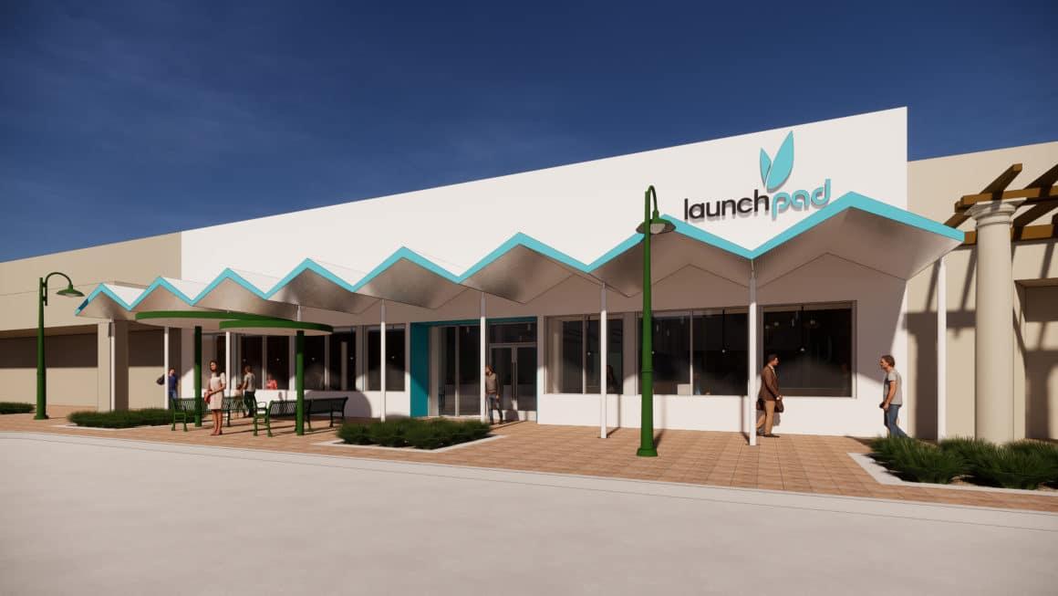 Launch Pad rendering of exterior courtesy of Gensler