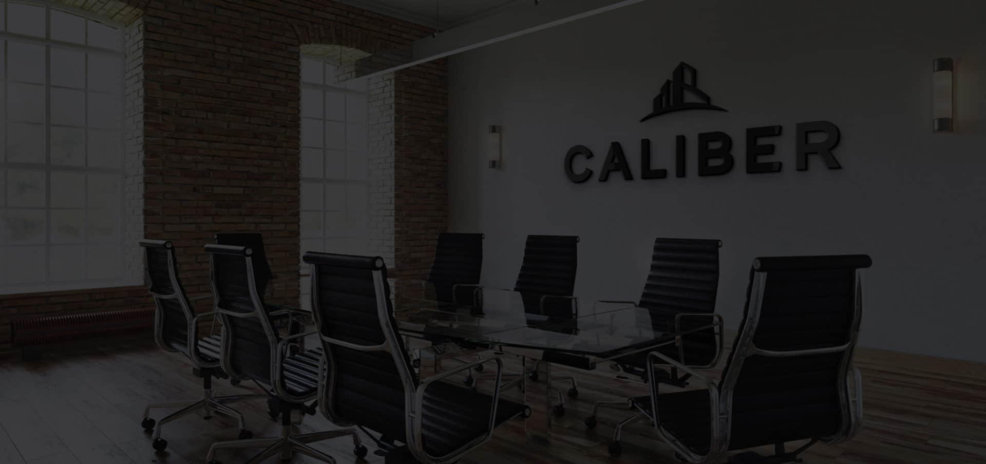 Caliber Office Sign Mock Up Conference Room