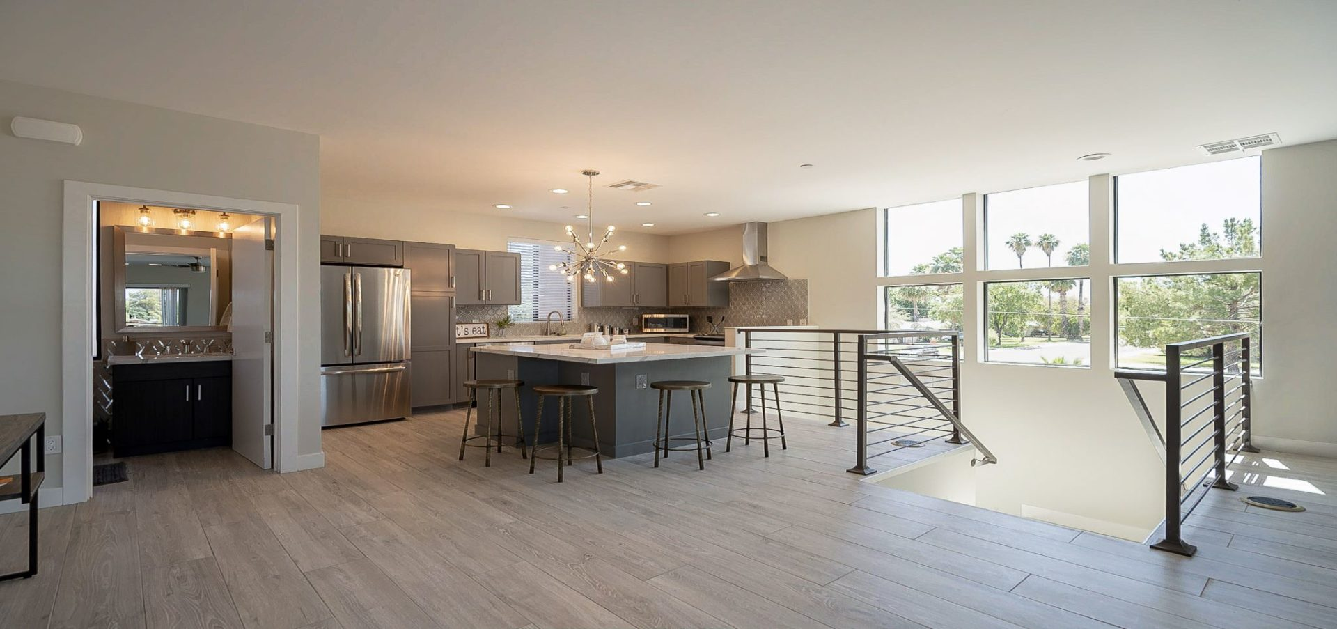 An up-to-date, modern kitchen renovated through real estate alternative investments