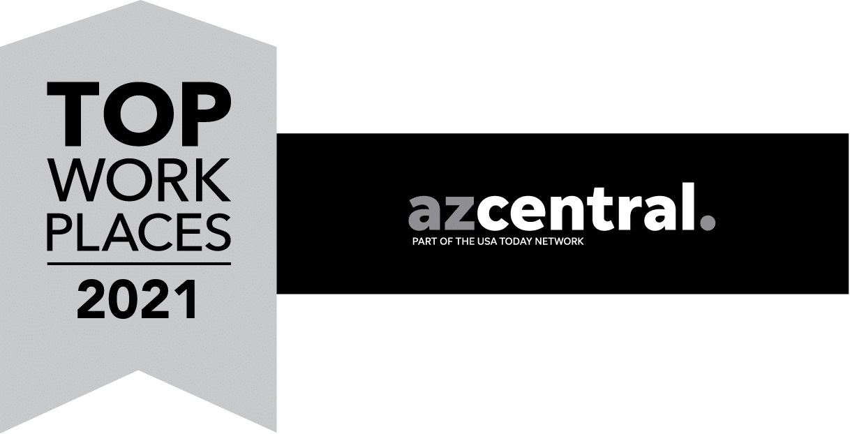AZ Central To Places to Work 2021 Badge