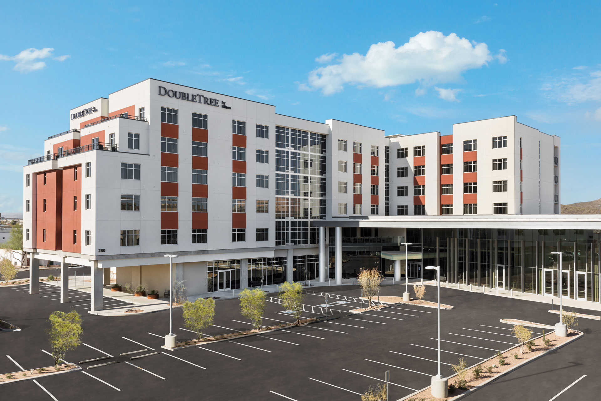 The DoubleTree by Hilton Tucson Front Exterior Day