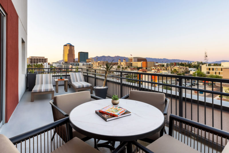 The DoubleTree by Hilton Tucson President's Suite Overlooks Downtown Tucson